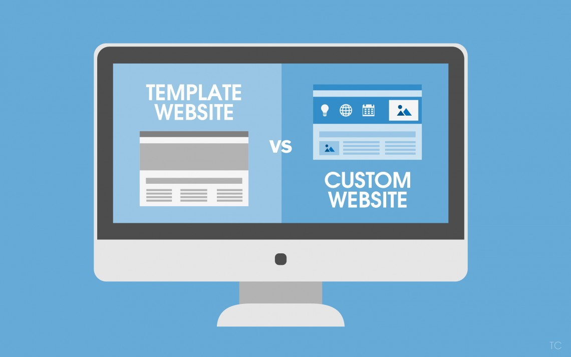 the difference between template vs custom made websites