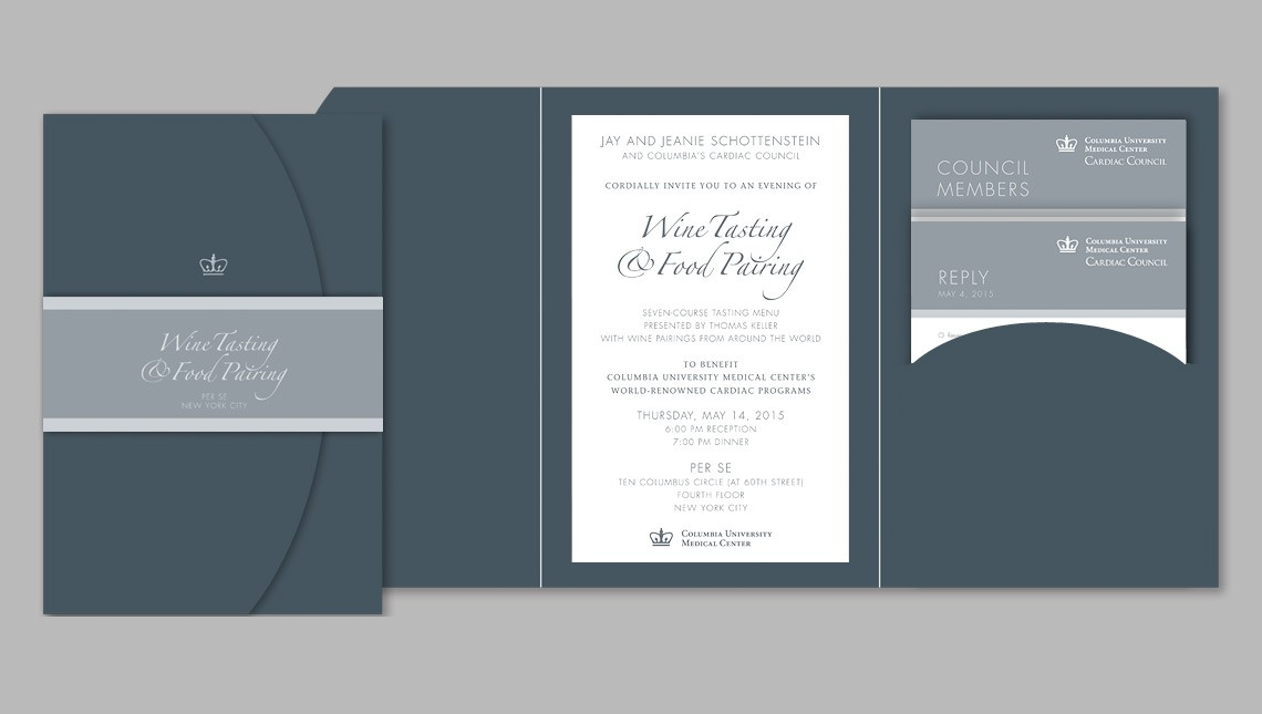 invitations and event materials for columbia university